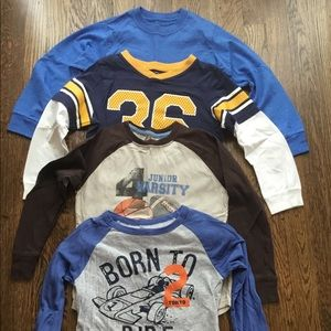 4 Boys long sleeve jerseys. Size 7